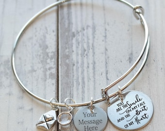 You are the Smile on my Face Wire Adjustable Bangle Bracelet