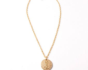 Yves Saint Laurent Vintage 1980s YSL Medallion Chain
