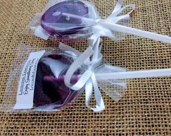 12 Lavender Lemonade Lollipops