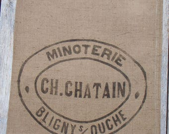 French  Vintage Flour Sack or Burlap Grain Sack in VERY GOOD CONDITION