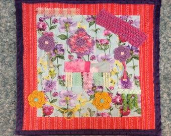 Handmade Tactile Lap Blanket Alzheimers Fidget Quilt Sensory Dementia
