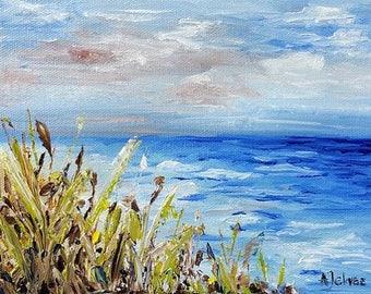 Beach art Ocean art Beach print 8x10 Landscape art 11x14 Original art print Beach giclee print Seascape art 5x7 Summer breeze Beach décor