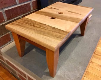 Sturdy Step Stool Cherry Maple and Mahogany