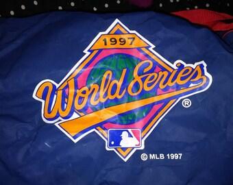 1997 world series duffle sports gym bag weekender overnight bag