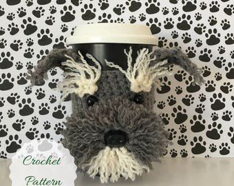 Schnauzer Crochet Pattern, Mug Cozy Pattern, Amigurumi Dog, Crochet Pattern Dog, Crochet Dog Pattern, Dog Crochet Pattern, Tea Cozy Pattern