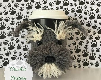 Amigurumi Dog, Crochet Pattern Dog, Crochet Dog Pattern, Dog Crochet Pattern, Crochet Pattern, Schnauzer Pattern, Mug Cozy Pattern, Tea Cozy
