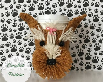 Mug Cozy Pattern, Crochet Yorkie Pattern, Dog Crochet Pattern, Crochet Dog Pattern, Amigurumi Dog, Dog Amigurumi, Crocheting Patterns