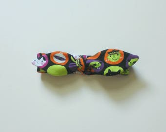 Monster Halloween Baby Knotted Headband, Infant Headband, Newborn Headband, T-shirt Headband Baby, Jersey Headband Baby, Fabric Headband