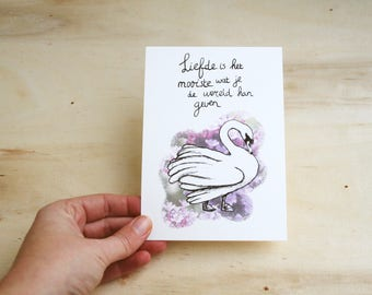 Postcard ' Love '