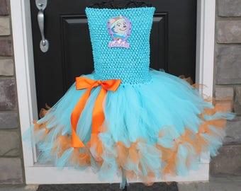 Sale! Ready to ship Paw Patrol Everest Costume.  size 4/5.  Everest Halloween Costume.  Paw Patrol Everest tutu dress.