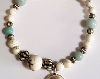 Magnesite & Amazonite Stretch Bracelet