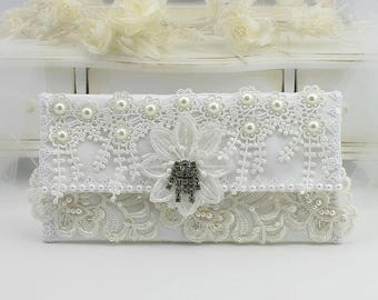 Foldover Clutches, Clutch Purse, Bridal Clutch Purse, Lace Bridal Clutch, Bridal Clutch Bag, Evening Clutch Purse, Purse, Wedding Purse