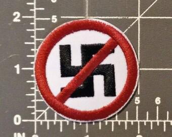Anti-Nazi patch / iron on / embroidery / badge / logo / design / FREE SHIPPING to U.S.