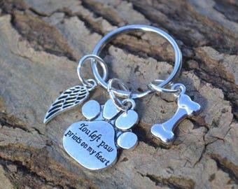 Dog memorial keyring, dog keyring, pet memorial keyring, pet memorial gifts, pet gift, animal gifts, gifts for her, gifts for him, pet gifts
