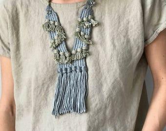 Sensia Necklace//Fiber Jewelry//Woven