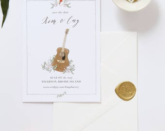 Illustrated Save the Date | Custom Hand Drawn Save the Date for Weddings & Special Events