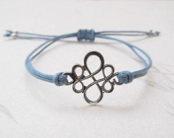 Chinese knot bracelet, ornament bracelet, blue bracelet