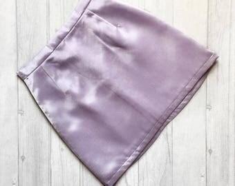 Handmade high waisted satin skirt. Sizes UK 4-18. Various colours available