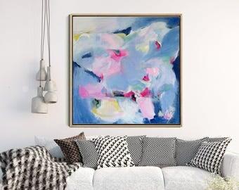 Original Art, Blue Abstract Painting, Abstract Canvas Painting, Modern Art, Contemporary Art, Abstract Wall Art, Wall Decor, Wall art