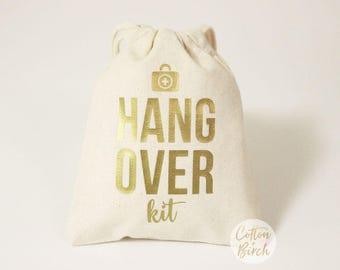 "Set of 10, 12, 15, 5""x6"" or 8""x 10"" Hangover Kit Favor Bags //Bachelorette Party Hangover Kit // Wedding Hangover Kit Bags"