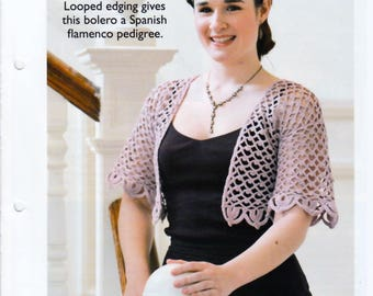 Vintage Crochet Pattern pdf. Women's Crochet Bolero Shawl, in DK, to fit 82-96, 92-97, 102-107 cm chest, INSTANT DOWNLOAD