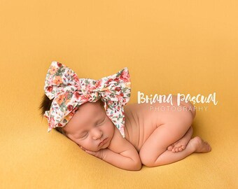 PEONY GARDENS Gorgeous Wrap- headwrap; fabric head wrap; floral head wrap; boho; newborn headband; baby headband; toddler headband