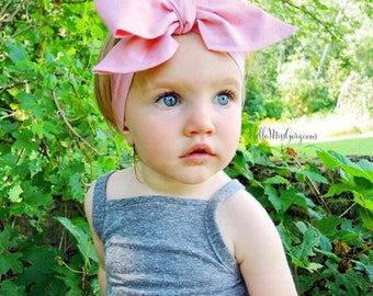 BALLET PINK Gorgeous Wrap- headwrap; fabric head wrap; pink head wrap; boho; newborn headband; baby headband; toddler headband