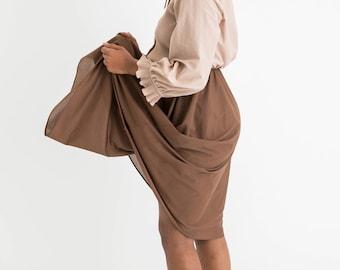 70s Two Tone Secretary Dress S