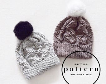 KNITTING PATTERN : Etta Hat / Knit Hat Pattern, Knitting Hat Pattern, Hat Pattern, Knit Hat, Womens Hat Pattern, Knit Pattern Hat