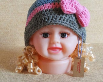 Crochet Wrapped With Love Hat (Children)