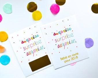 Scratch surprise pregnancy announcement card