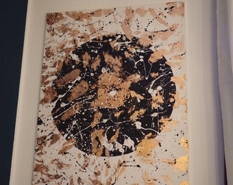 Abstract Copper Acryl Painting