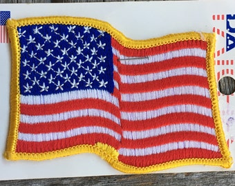 USA Flag Vintage Travel Souvenir Patch by Holm Patches
