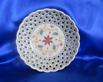 Ornate Pierced Bowl, Traidcraft, Made in Thailand