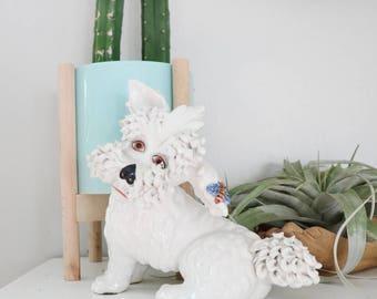 Italian ceramic poodle