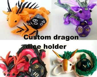 CUSTOM DICE HOLDER - Dice included - Role-playing geek gifts - Figure - custom order