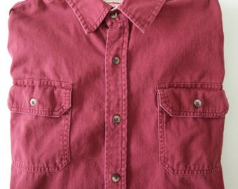 Vintage Wrangler Casual Collared Shirt, Size Large