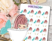 Cute Dolls- Bath/Me Time Stickers -063