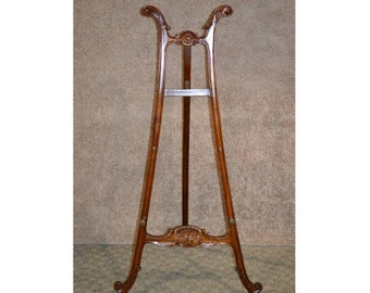 Carved Mahogany Victorian Style Easel