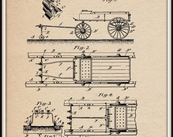 Device for Guiding wagons on tracks Patent #702503 dated June 17, 1902.