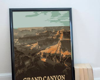 Grand Canyon National Park Poster 11x17 18x24 24x36