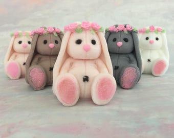 Bunny Soap - Rabbit Soap - Bunny Baby Shower - Easter Bunny Soap - Easter Basket Ideas - Easter Basket Favors - Novelty Soap - Soap for Kids
