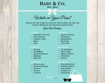 Tiffany's Themed Baby Shower Purse Game-Tiffany's Bridal Shower Game