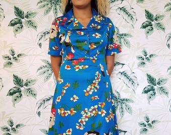 Vintage dress size UK 10 - Fab vintage floral summer dress