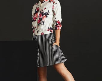 Sale - Bomber jacket, Lightweight floral, Womens bomber lacket, Womens jackets, Cropped jacket, Spring jacket, Light jacket, Floral bomber j