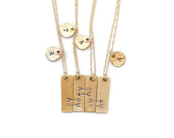 Friendship Necklace for 4, Matching Necklaces, Best Friend Necklace,Best Friend Necklace for 4,Best Friend Gift,Sisters,Cousins,BFF Necklace