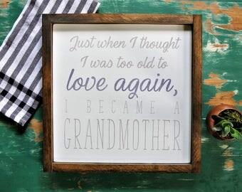 A Grandmother's Love - Handmade Wood Sign