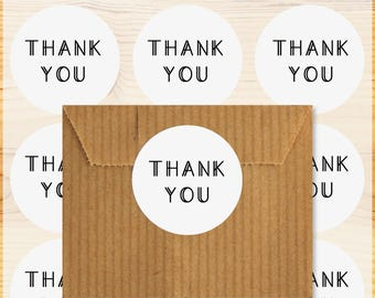 Set of 48 stickers Stickers Thank you tags