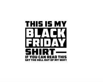 Black Friday Shirt SVG