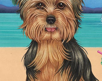 Yorkie Beach Towels